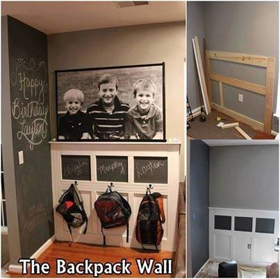 Cute Entry Way Idea - A Place To Hang Coat/ Backpack/ etc