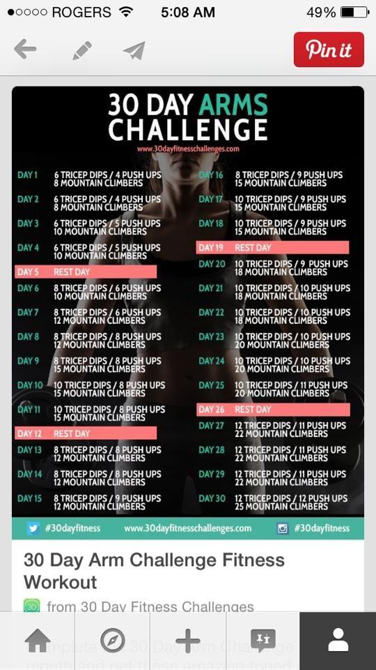 30 day arm challenge trusper
