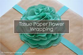 diy flower tissue wrap
