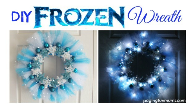 DIY Frozen Inspired Wreath.