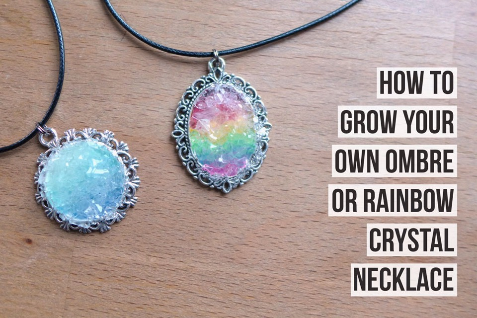 Grow Your Own Crystal Necklace!💎. #tipit