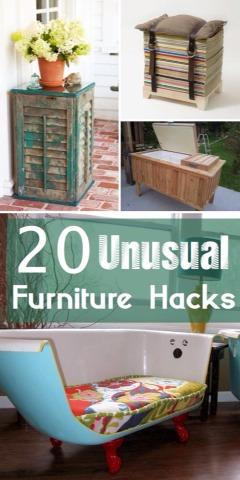 20 Unusual Furniture Hacks.