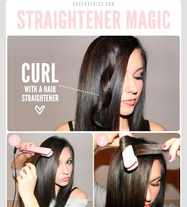 Выпрямитель для волос как сделать локоны