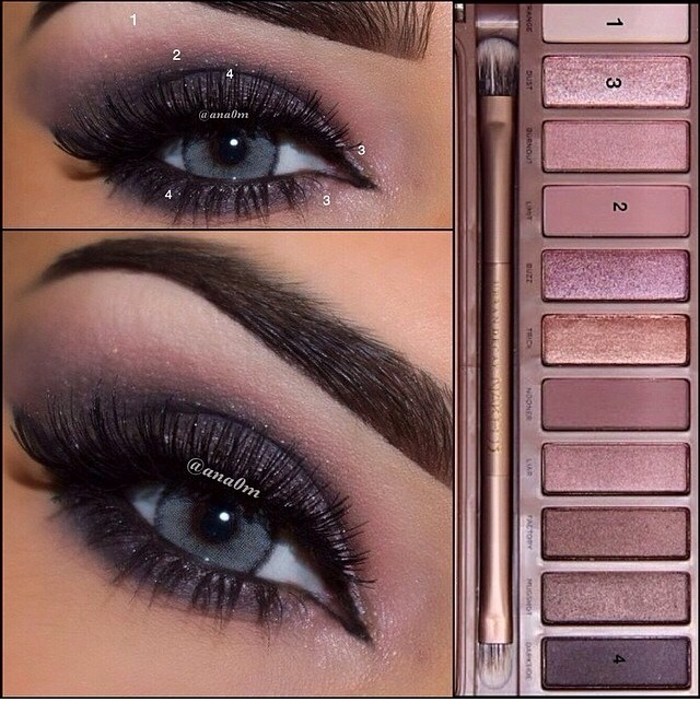 easy looks using urban decay 39 s naked 3 palette trusper. Black Bedroom Furniture Sets. Home Design Ideas