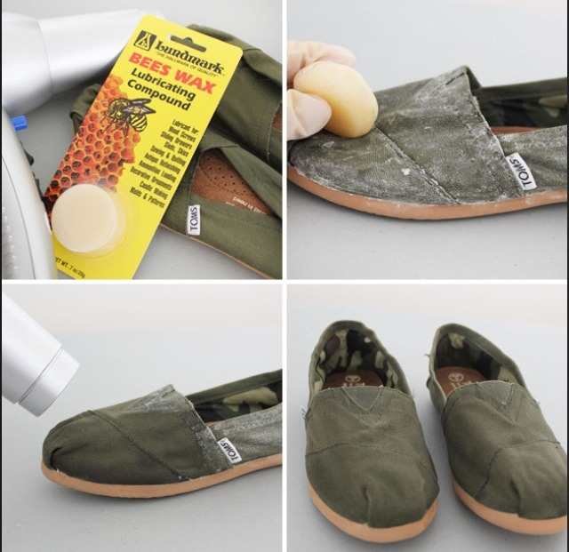 you can easily waterproof your toms other canvas shoes