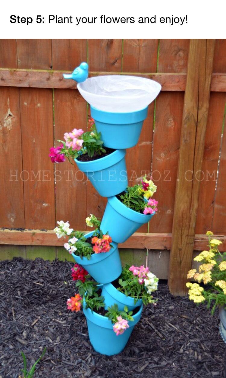 Кашпо для цветов своими руками из пластиковых ведерок