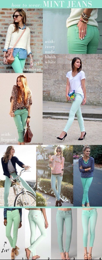 ✨🎀How To Wear Mint Jeans✨🎀👖😊👠