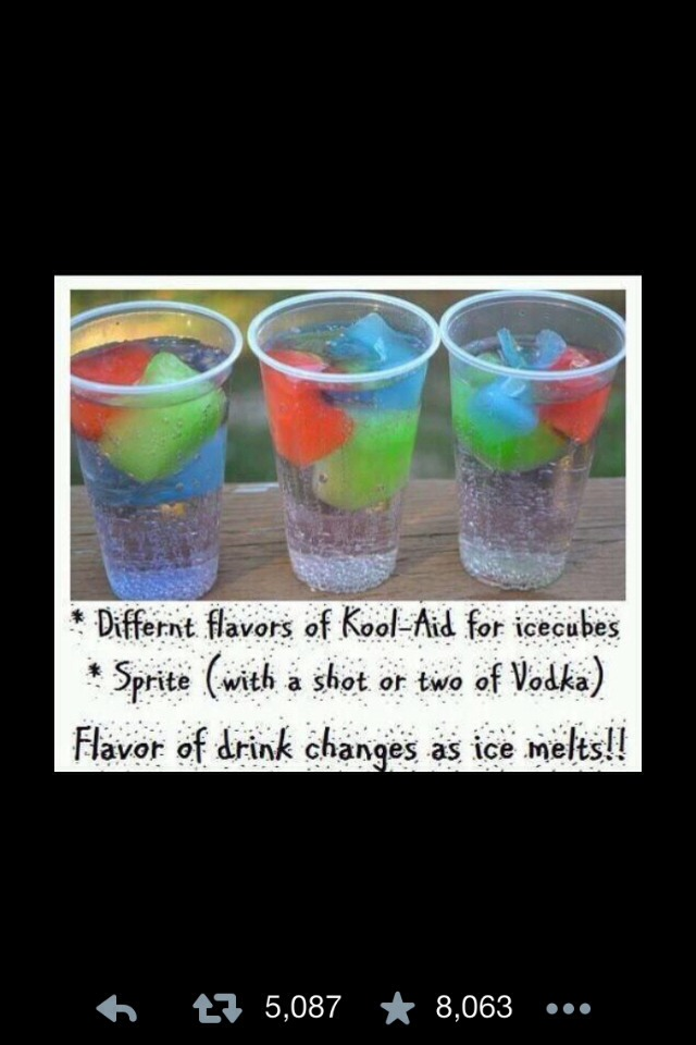Fun summer drink idea sprite koolaid and vodka trusper for Fun cocktails with vodka