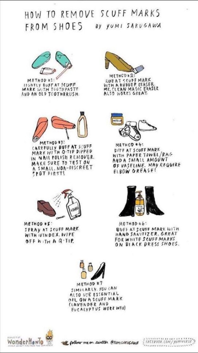 How To Remove Scuff Marks From Shoes 👠👌