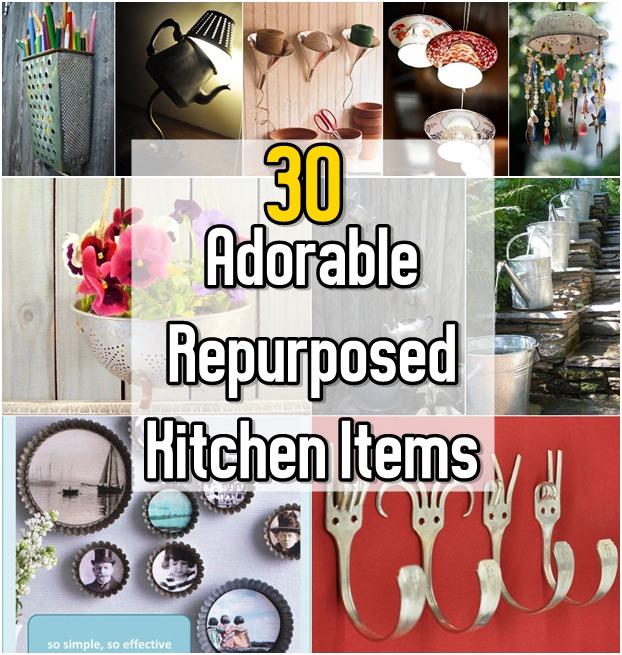 🍴30 Adorable Repurposed Kitchen Items🍴