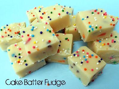 white Chocolate Cake Batter Fudge Recipe 😍