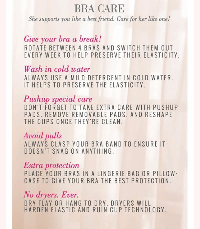 How To Take Care Of Your Bra!