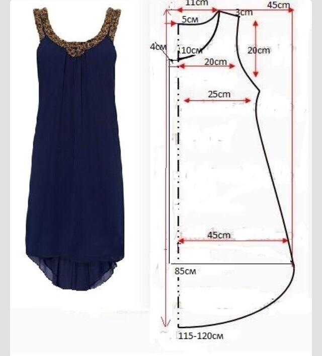 Сшить платье из шифона своими руками без выкройки