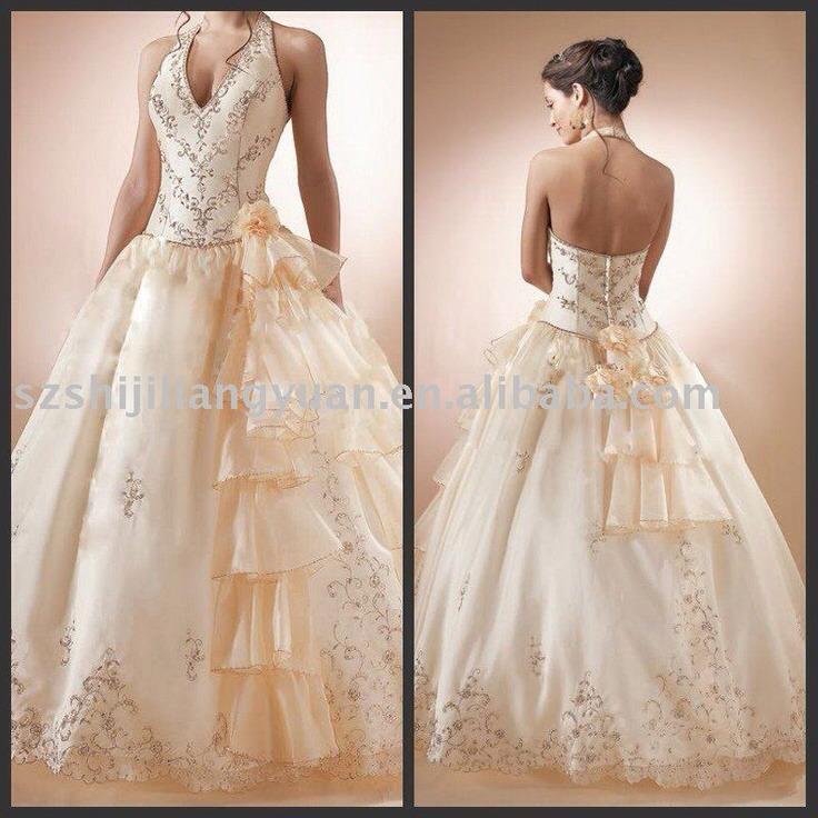 Champaign color weeding dresses trusper for Wedding dresses champaign il