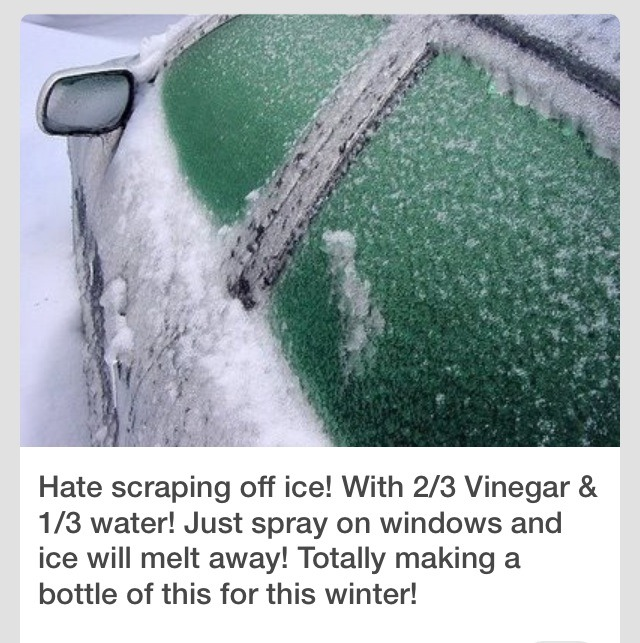 Just Spray For Windows To Get Off Ice!!