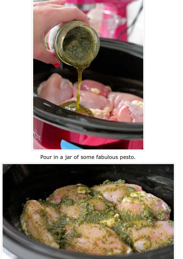 Pesto Ranch Crock Pot Chicken Thighs   Trusper