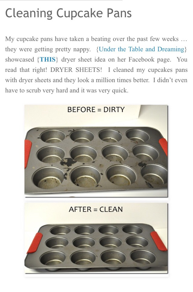 Easy Way To Clean Cupcake Pans 🎂