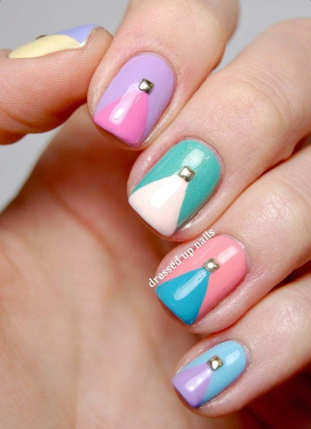 Two Color Painted Nails