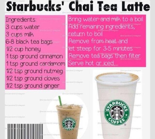 Recipe For Starbucks' Chai Tea Latte!