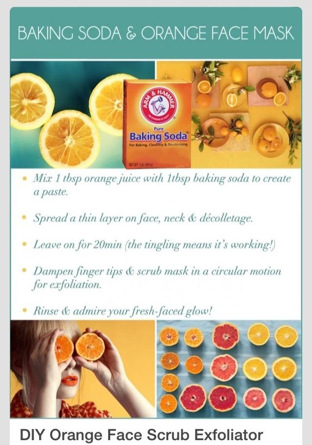 baking soda and orange face mask trusper. Black Bedroom Furniture Sets. Home Design Ideas
