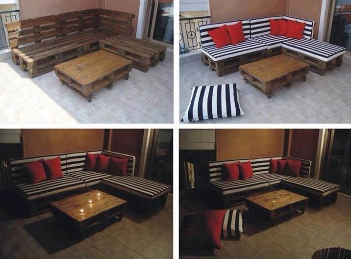 Diy outdoor seating area ideas cheap for Cheap garden seating ideas