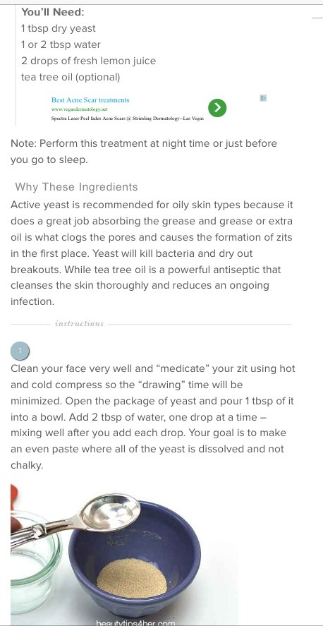 how to get rid of zits overnight yahoo