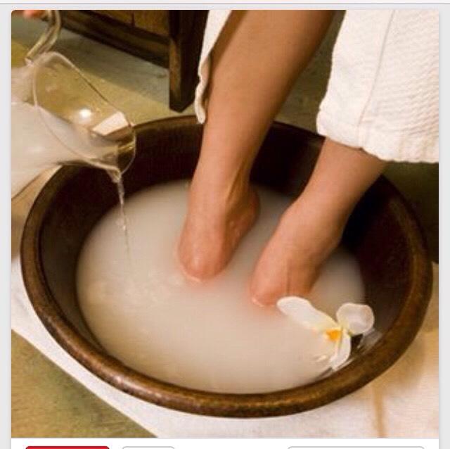 Ванночка для ног от грибка с содой и