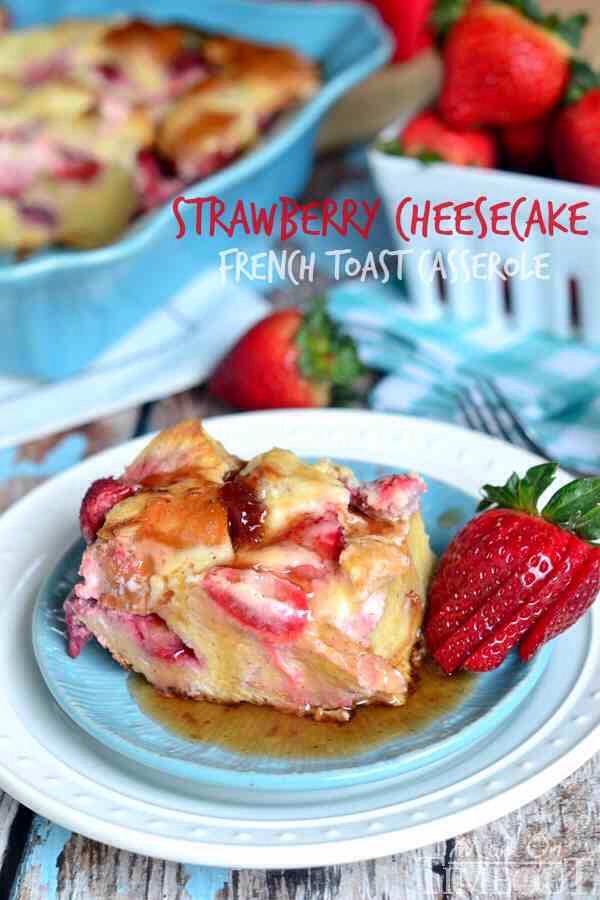 Strawberry Cheesecake French Toast Casserole🍓🍞🍓🍴