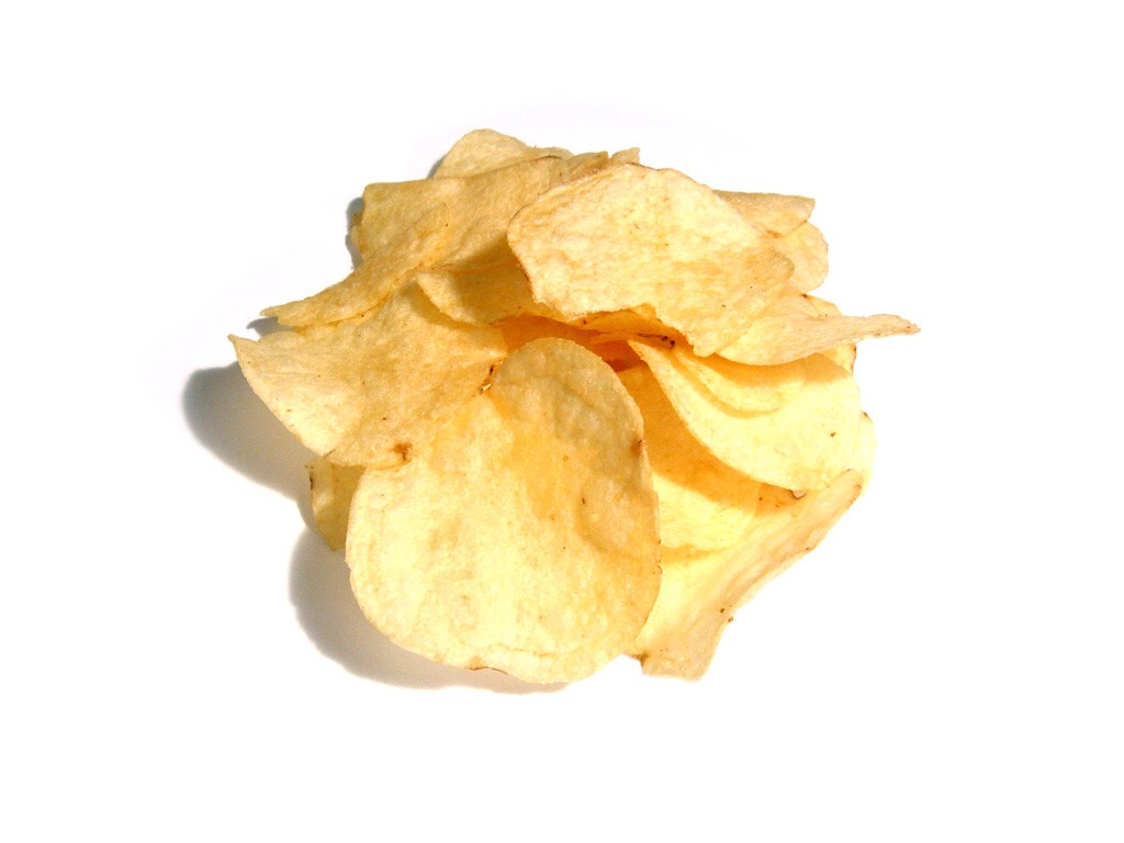 Potato chips and cream cheese... Sounds gross, but don't knock it 'till you try it