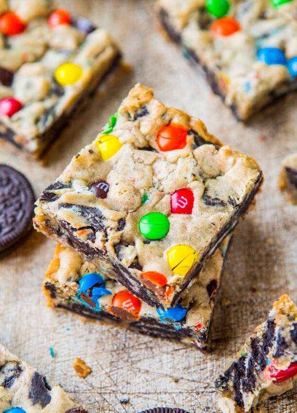 ✨DELICIOUS M&M Oreo Cookie Bars!✨