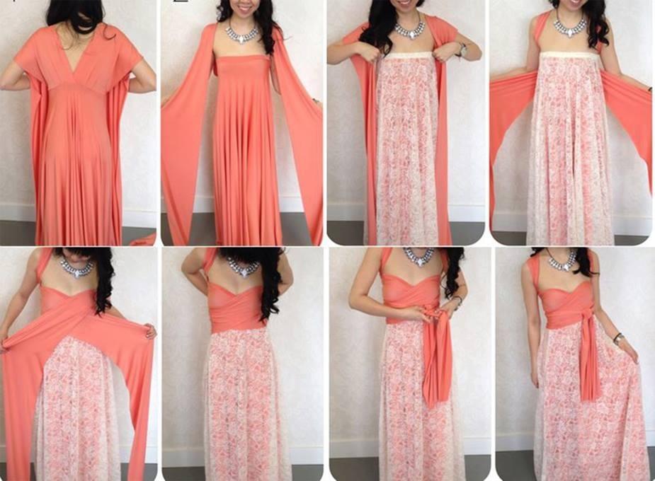 Платье без шитья видео
