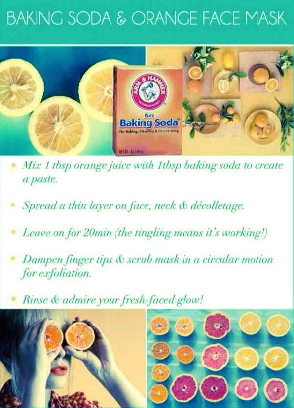 Baking Soda && Orange Face Mask 😁🍊🍊