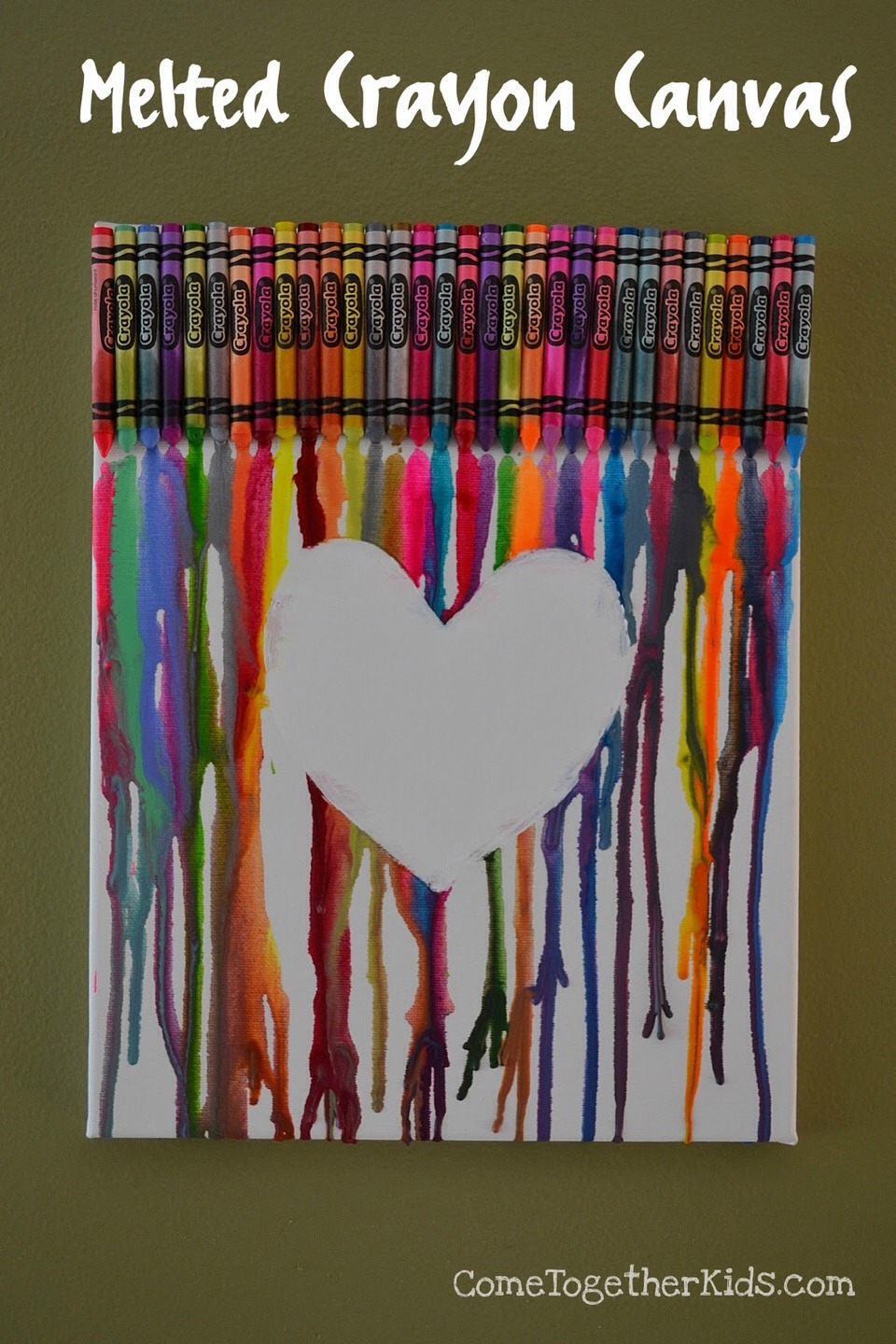 Melting crayon art ideas how to trusper for Melted crayon art techniques