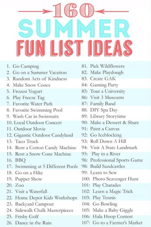 160 summer fun list ideas trusper. Black Bedroom Furniture Sets. Home Design Ideas