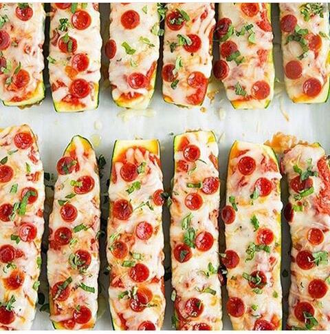 Zucchini Pizza Boats 💕