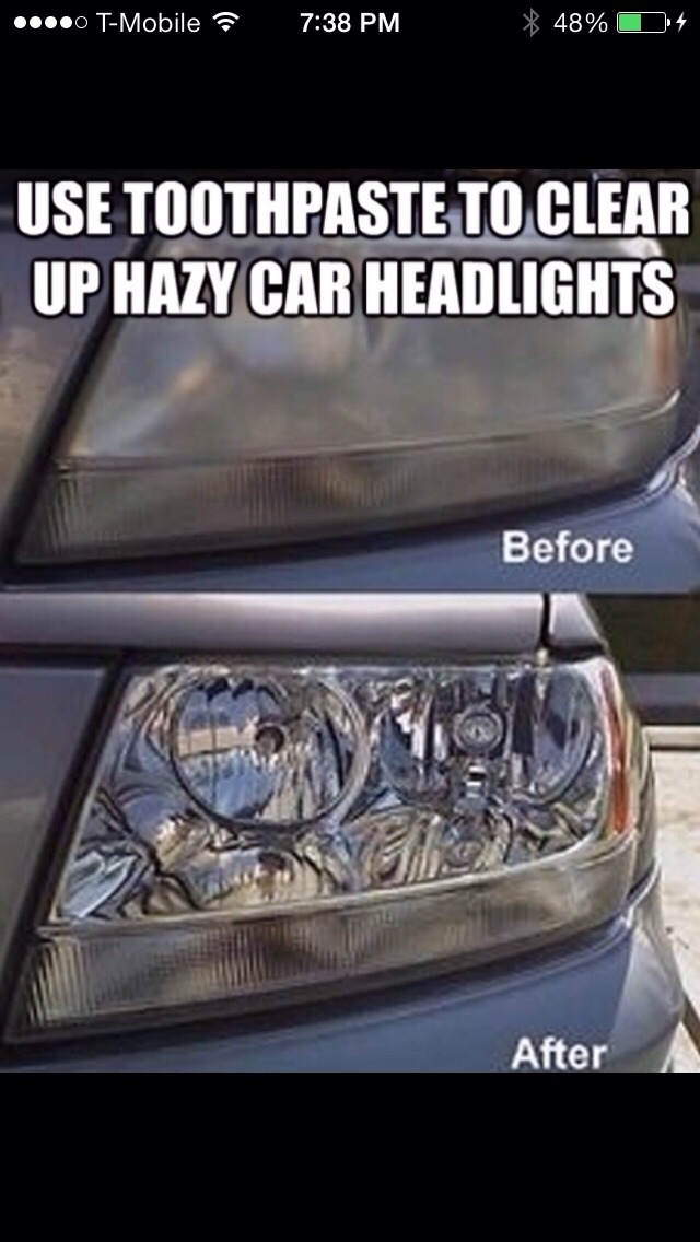 How To Use Toothpaste To Clean Car Lights