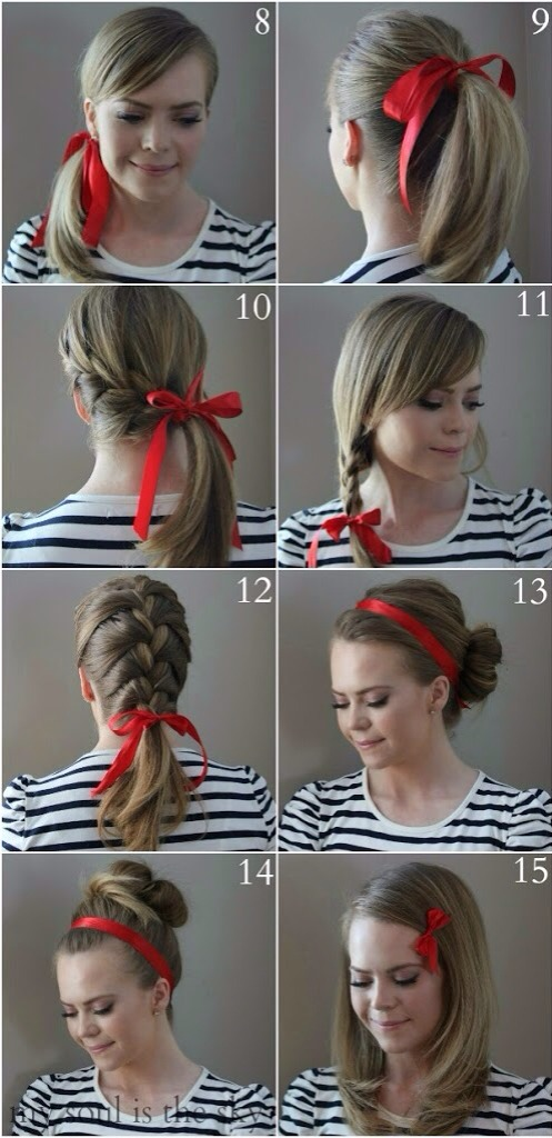 how to wear a ribbon