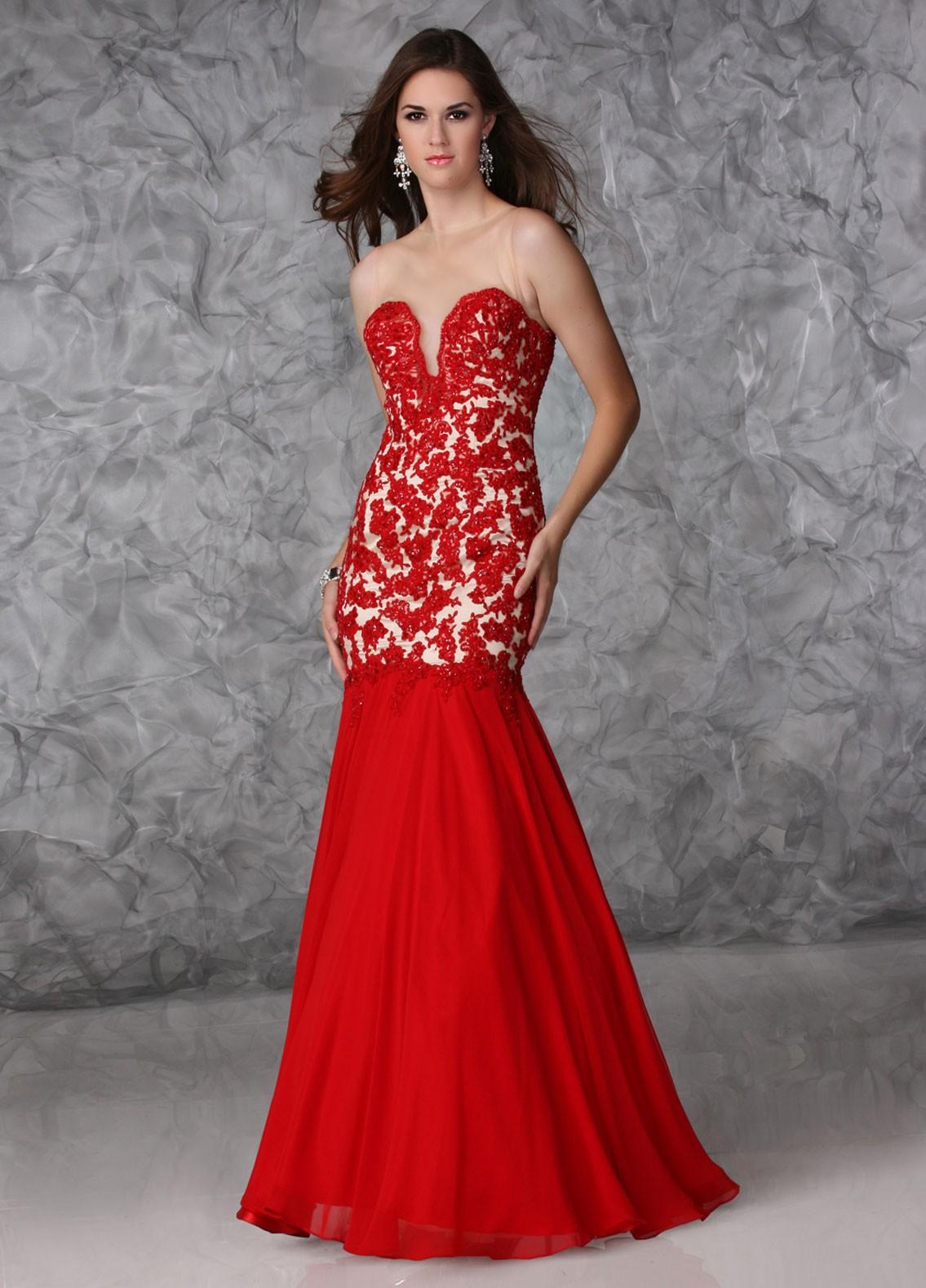 Red Mermaid Dresses