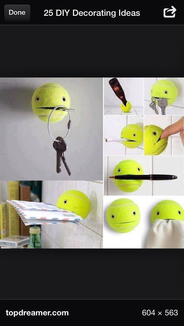 Holder Made Out If Tennis Balls