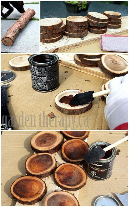 Diy wood branch coasters or rustic wedding table numbers for Diy rustic coasters