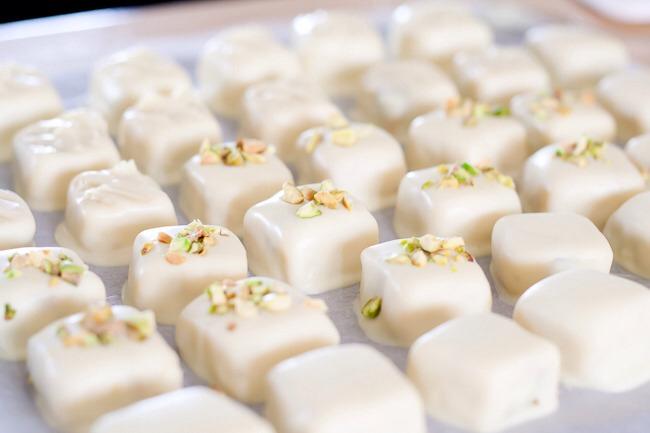 Pistachio Bonbons Recipe — Dishmaps