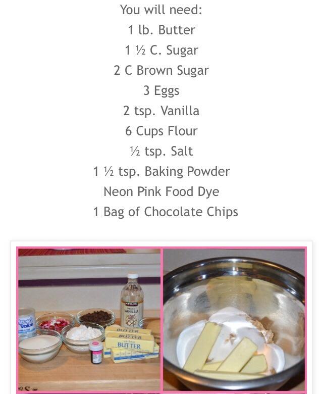 Valentines Day Pink Chocolate Chip Cookies! | Trusper