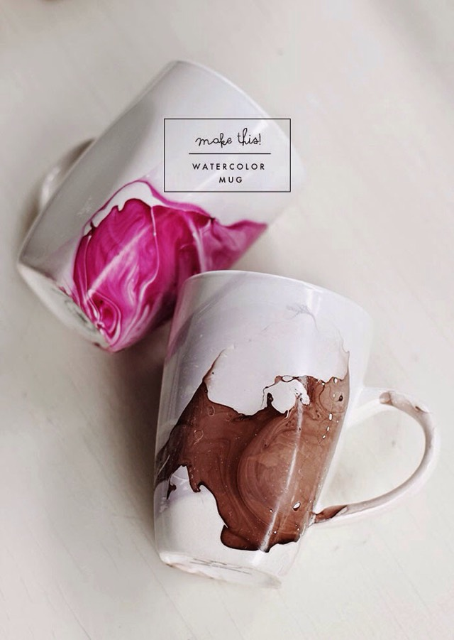 Diy Watercolor Mug #Tipit