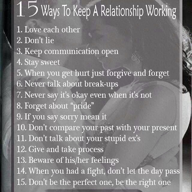 How To Keep Your Relationship Going