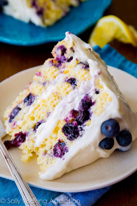Lemon Blueberry Layer Cake To Die For - TOO Yummy!