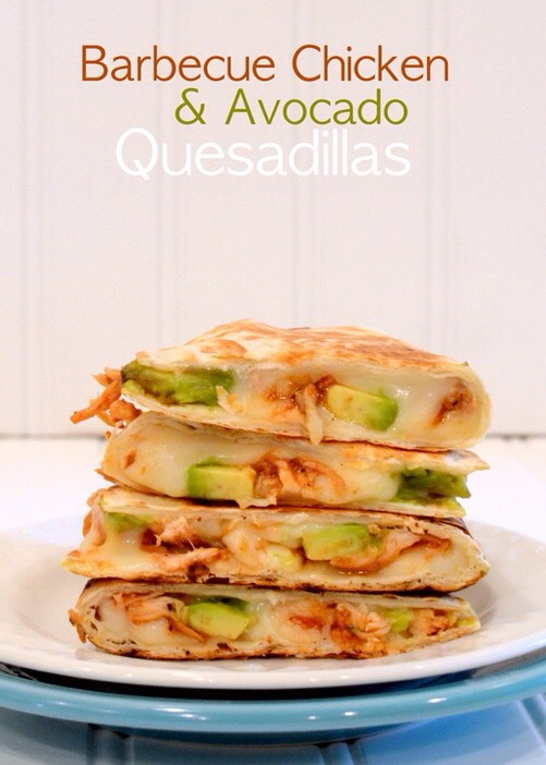 ✨Barbecue Chicken & Avocado Quesadillas✨