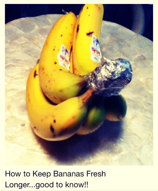 how to keep bananas fresh longer