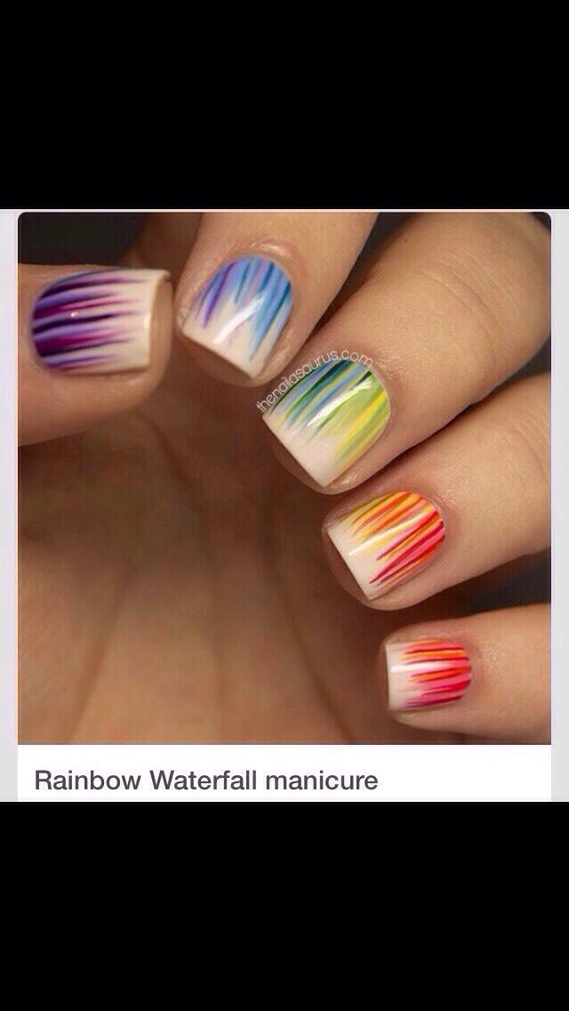 Water Fall Nails Diy