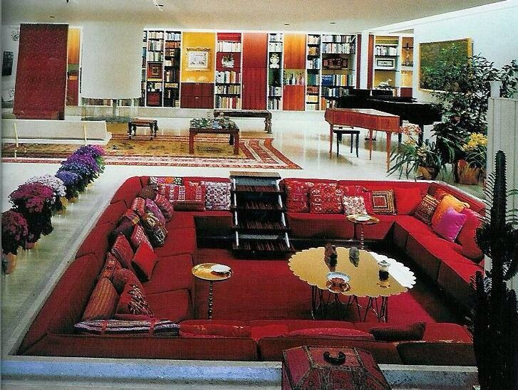 Sunken living room designs trusper for Interior design 70s style