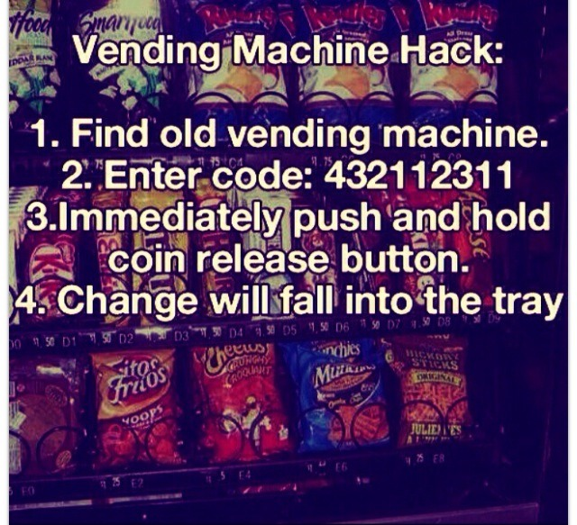 how to get free vending machine
